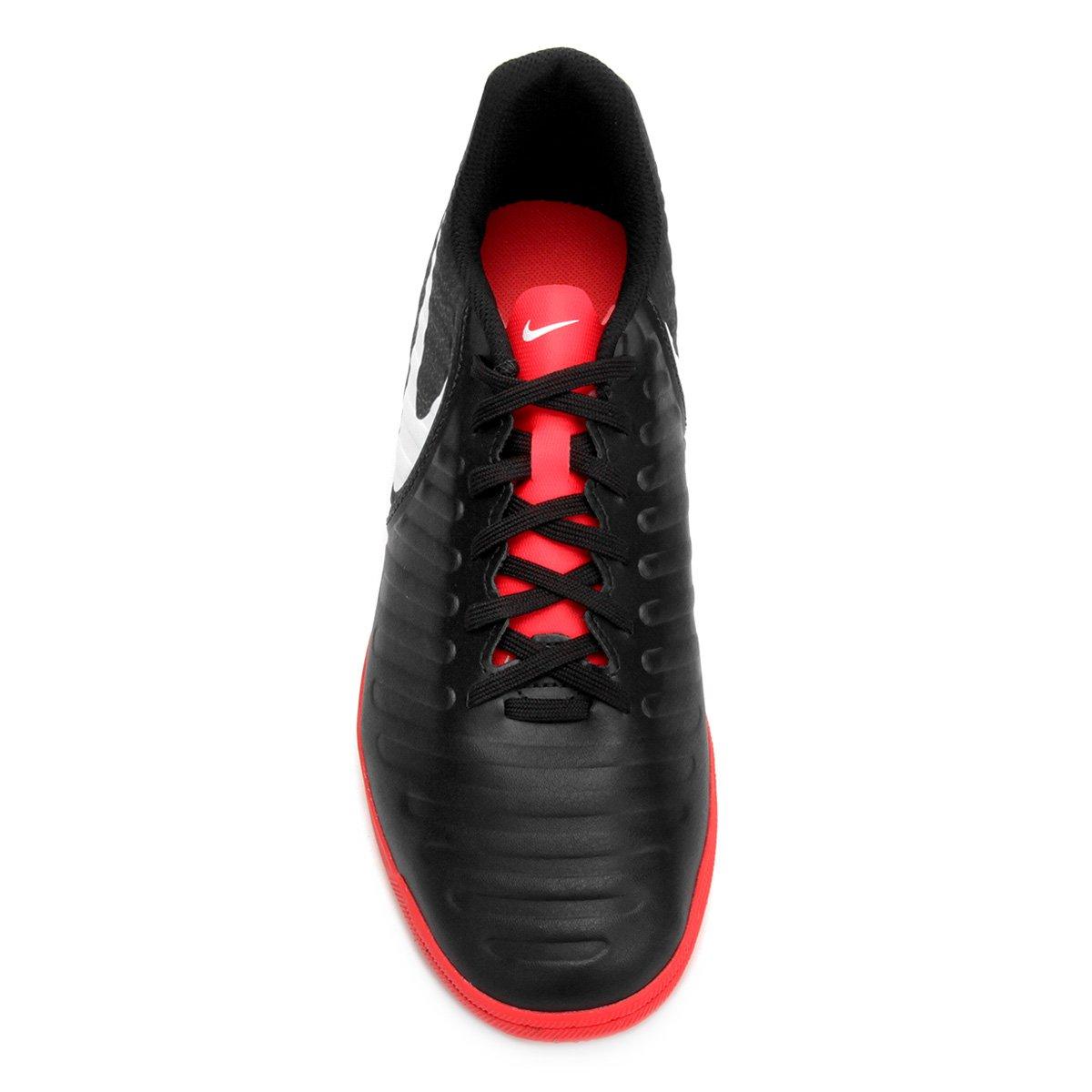 191cd5911e Chuteira Futsal Nike Tiempo Legend 7 Club IC - Preto e Vermelho ...