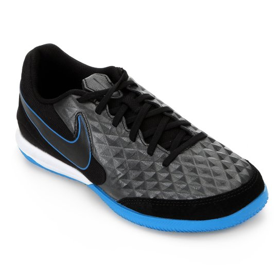 Chuteira Futsal Nike Tiempo Legend 8 Academy IC - Preto+Azul