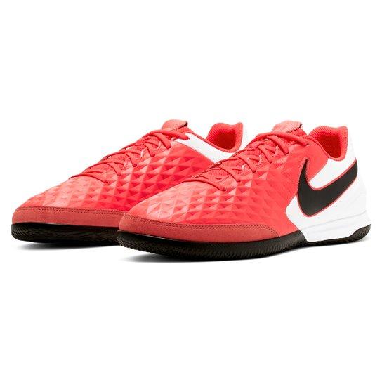 Chuteira Futsal Nike Tiempo Legend 8 Academy IC - Vermelho+Preto