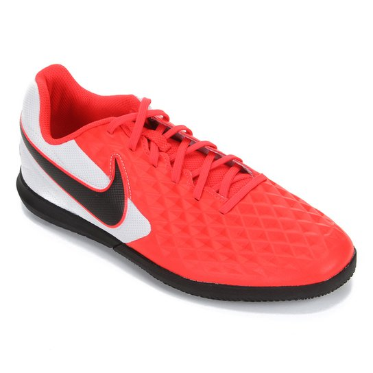 Chuteira Futsal Nike Tiempo Legend 8 Club - Vermelho+Preto