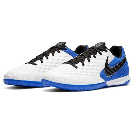 Chuteira Futsal Nike Tiempo Legend 8 React Pro IC - Branco+Preto