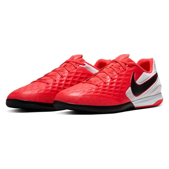 Chuteira Futsal Nike Tiempo Legend 8 React Pro IC - Vermelho+Preto