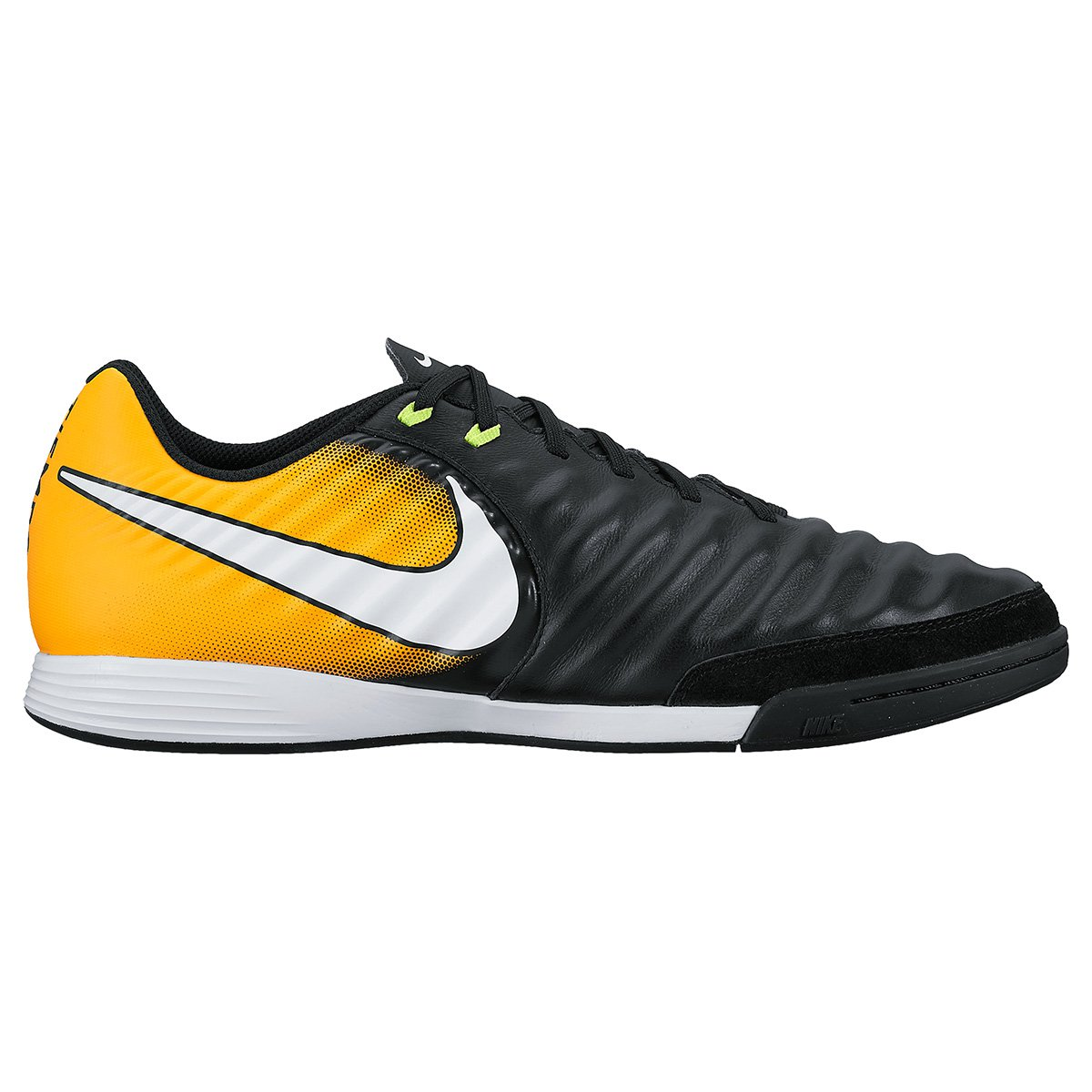 1af9ad6a2 Chuteira Futsal Nike Tiempo Ligera 4 IC - Preto e Laranja