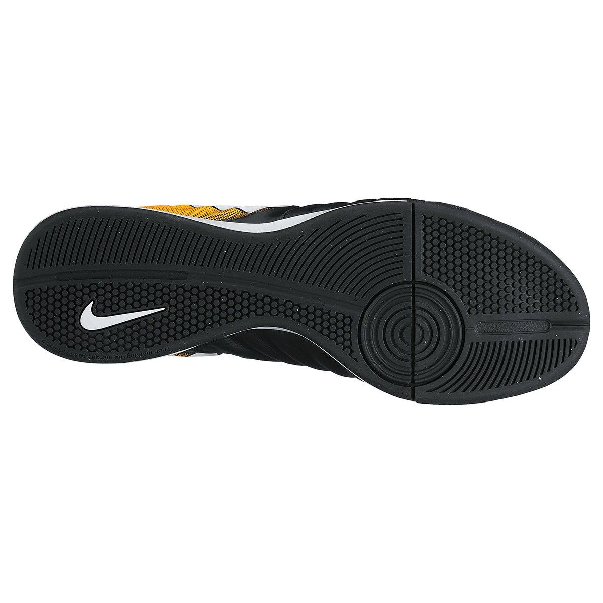 Chuteira Futsal Nike Tiempo Ligera 4 IC - Preto e Laranja - Compre ... 4de42c865a3d4
