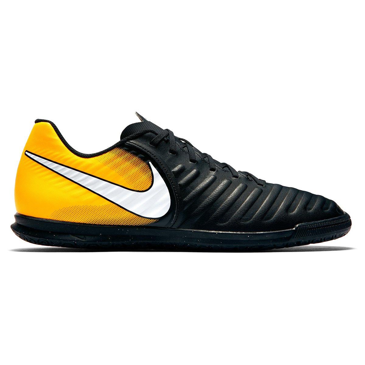 99c23b9f2e Chuteira Futsal Nike Tiempo Rio 4 IC - Preto e Laranja - Compre ...