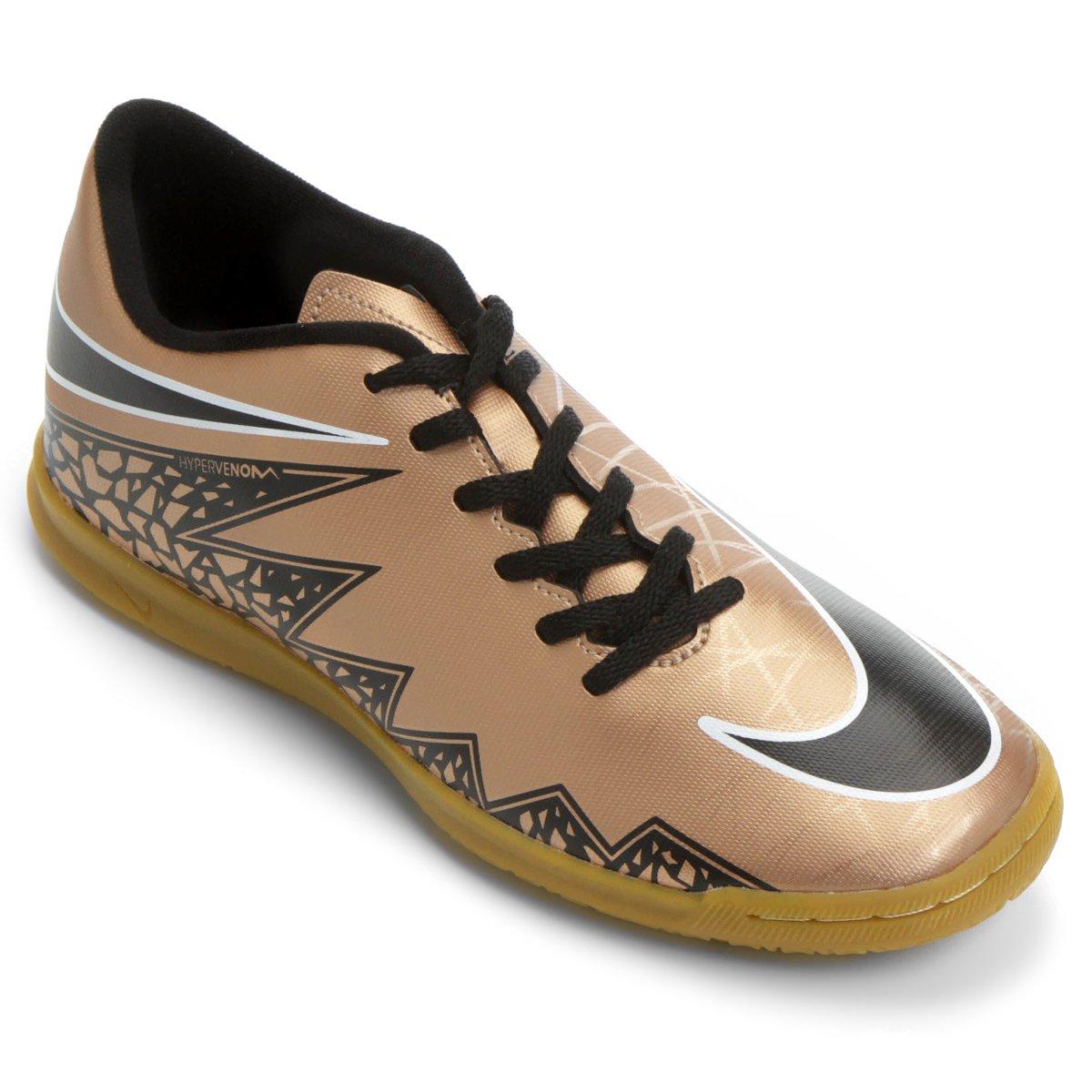 1d33ad592 Chuteira Nike Hypervenom Phade 2 IC Futsal - Marrom e Preto ...
