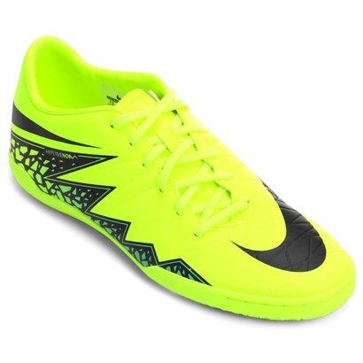 8ed39d09c98f1 ... Chuteira Nike Hypervenom Phelon 2 IC Futsal - Verde Limão e Preto ...