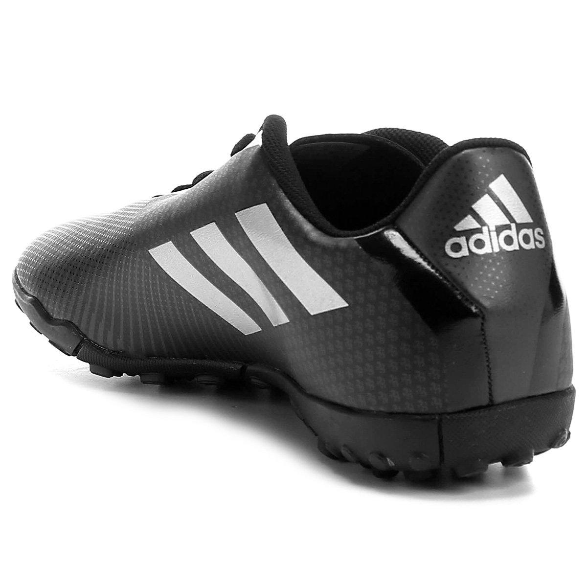 Chuteira Society Adidas Artilheira 17 TF - Preto e Prata - Compre ... 93e676a21a334