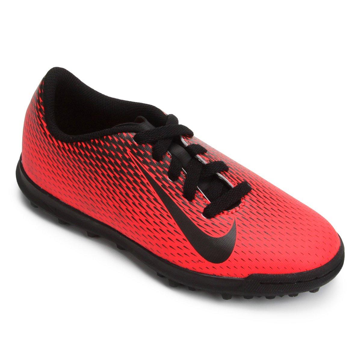 Chuteira Society Infantil Nike Bravata 2 TF - Preto - Compre Agora ... 353080f9e9b20