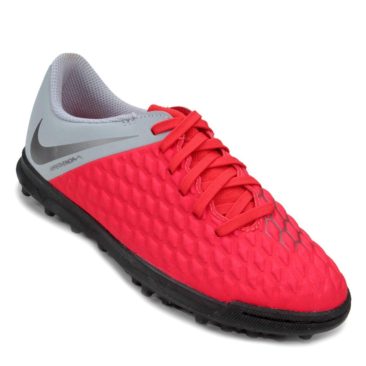 Chuteira Society Infantil Nike Hypervenom Phantom 3 Club TF ... 9ace5dafe3204
