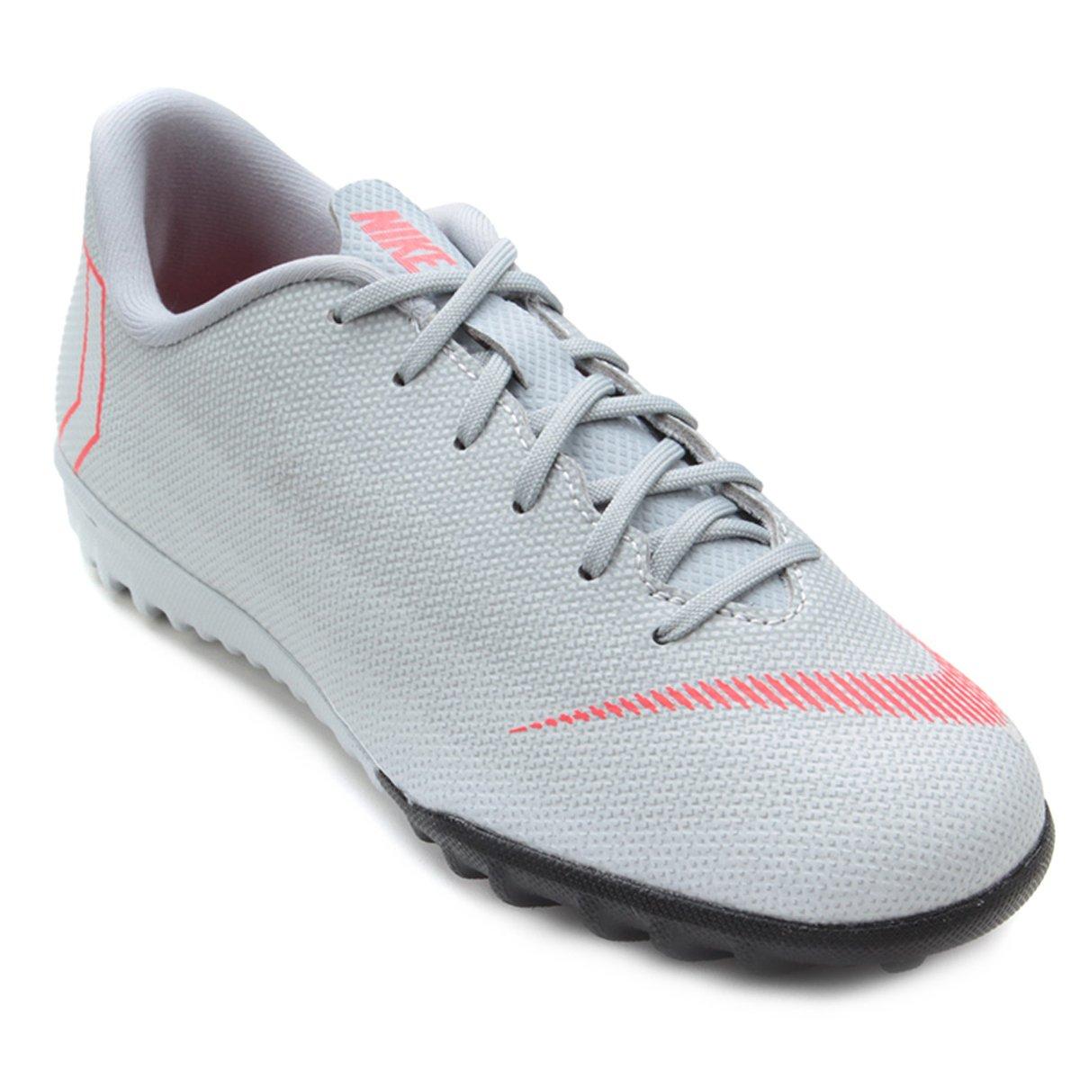 5207cf0b02 Chuteira Society Infantil Nike Mercurial Vapor 12 Academy GS TF - Cinza