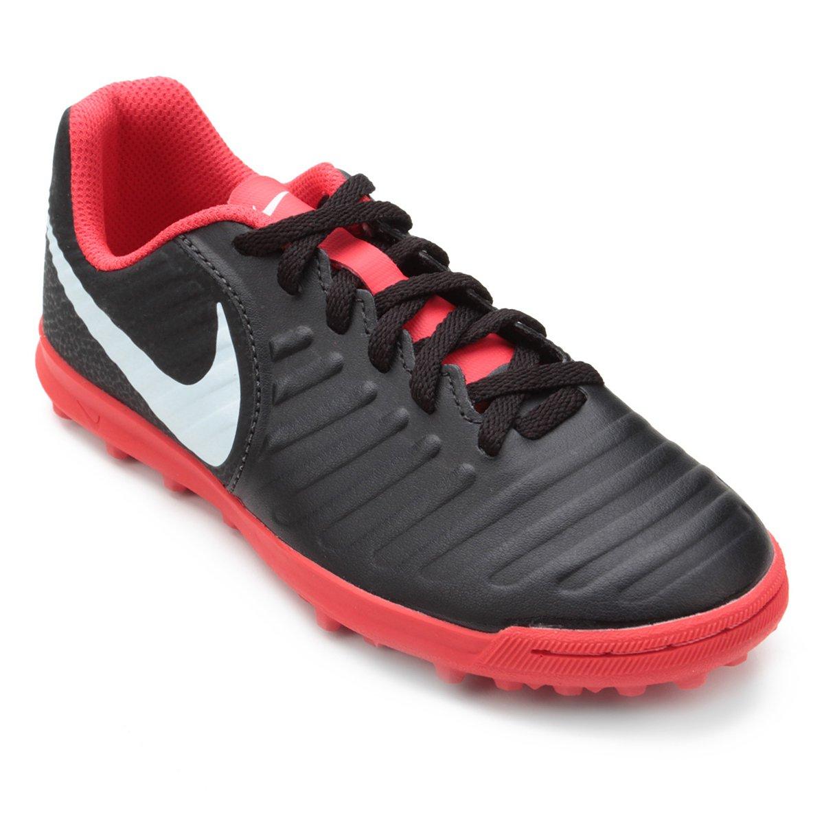 46c6ea56fe89b Chuteira Society Infantil Nike Tiempo Legend 7 Club TF - Preto ...