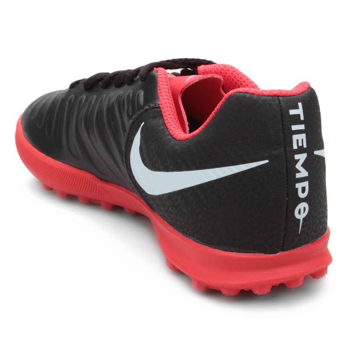 Chuteira Society Infantil Nike Tiempo Legend 7 Club TF - Preto ... ceb453418622a