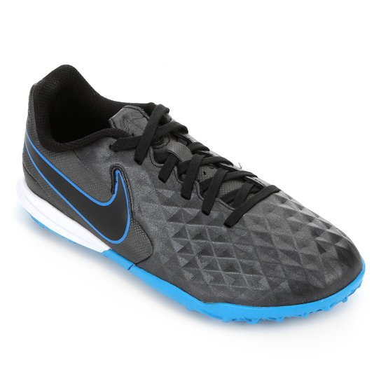 Chuteira Society Infantil Nike Tiempo Legend 8 Academy TF - Preto+Azul