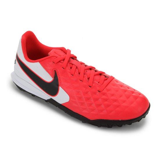 Chuteira Society Infantil Nike Tiempo Legend 8 Academy TF - Vermelho+Preto