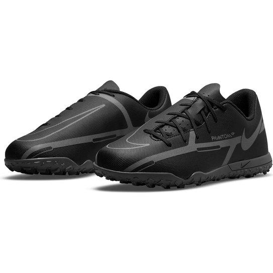 Chuteira Society Juvenil Nike Phantom GT2 Club - Preto+Cinza