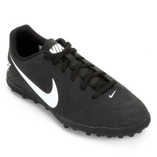 Chuteira Society Nike Beco 2 TF - Preto+Branco