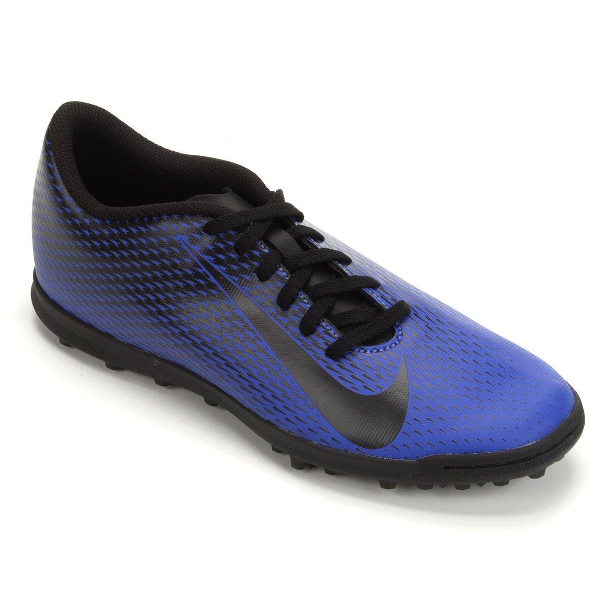cb29748a44 Chuteira Society Nike Bravata 2 TF - Azul e Preto