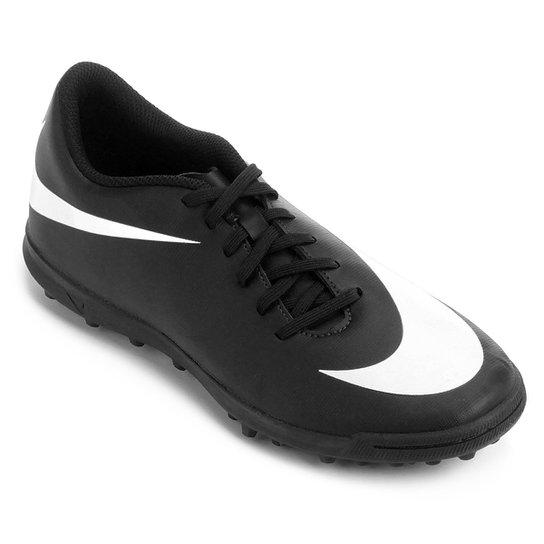 Chuteira Society Nike Bravata 2 TF - Preto+Branco
