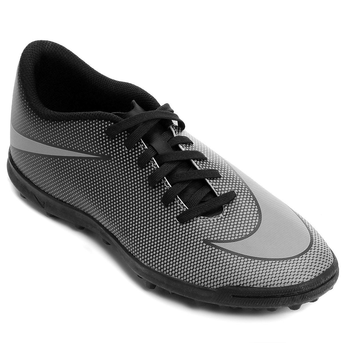 Chuteira Society Nike Bravata 2 TF - Preto e Cinza - Compre Agora ... 926ba9db2332d