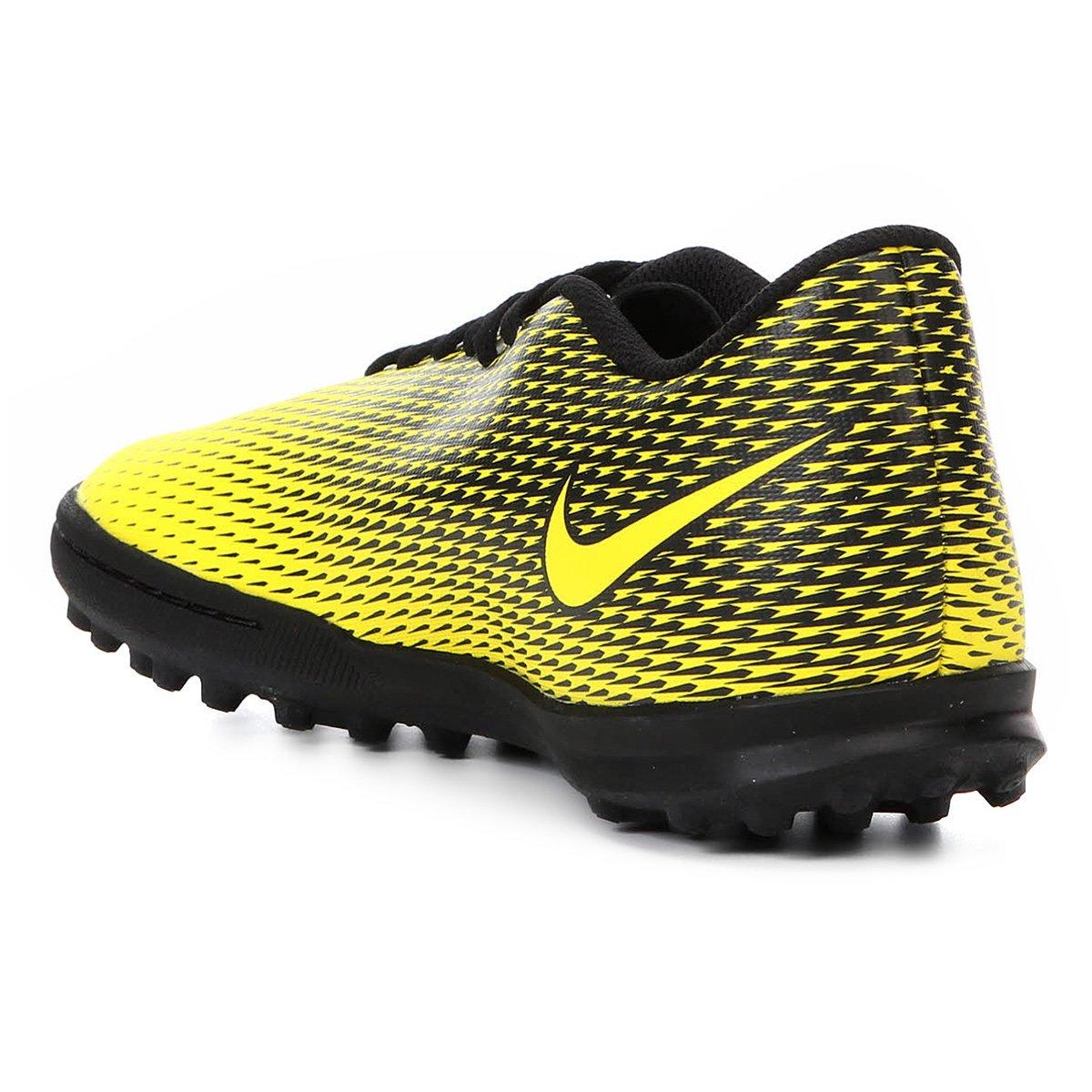 Chuteira Society Nike Bravata II TF - Amarelo e Preto - Compre Agora ... 4d19821b77b17