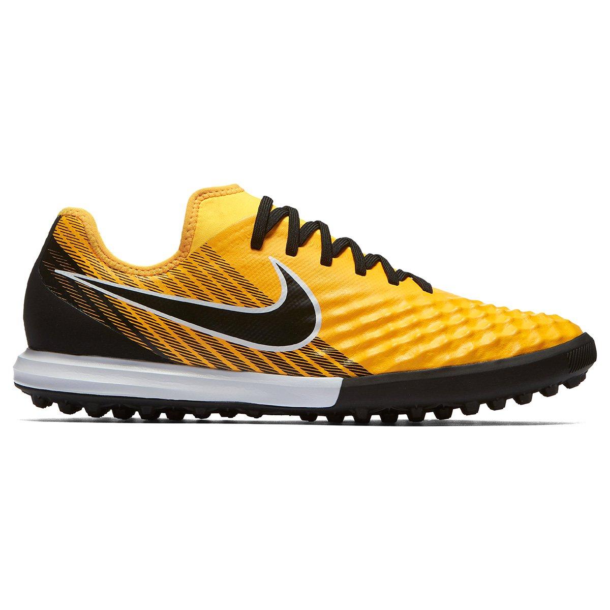 46f604220c Chuteira Society Nike Magista Finale 2 TF - Preto e Laranja