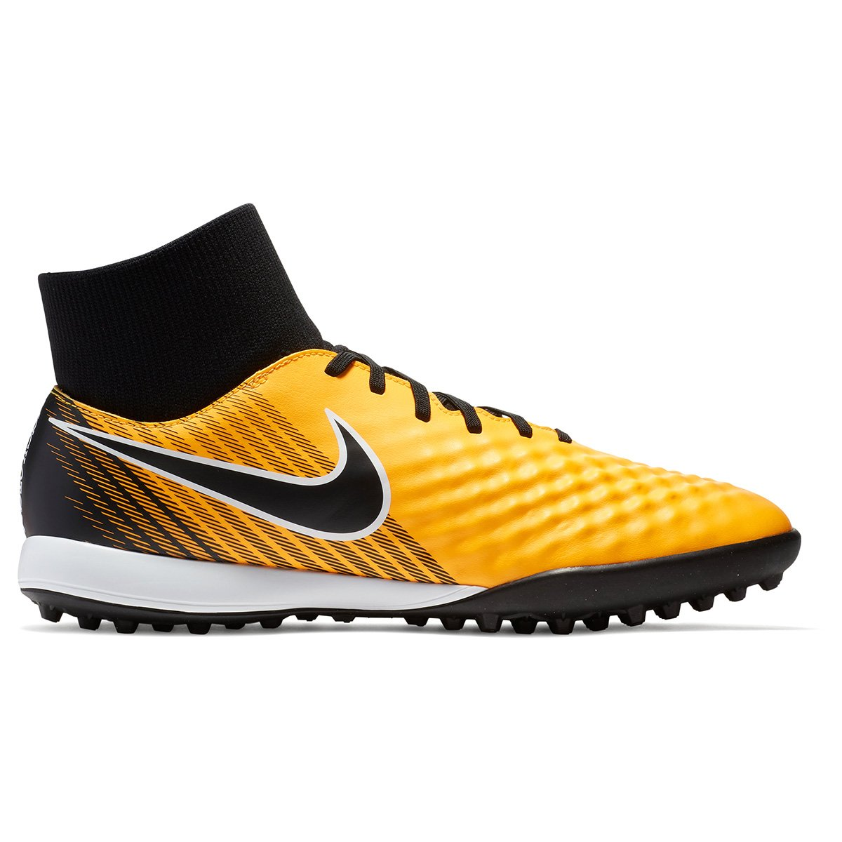 Chuteira Society Nike Magista Onda 2 DF TF - Laranja e Preto ... 9474634a8fa60