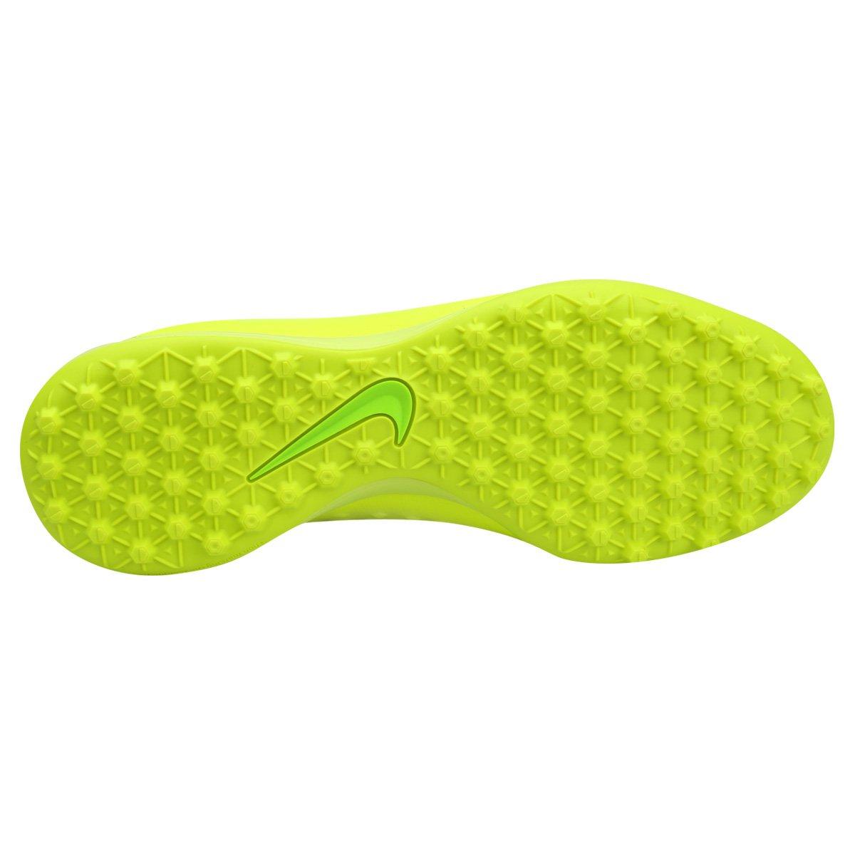 Chuteira Society Nike Magista Onda II TF - Verde Limão - Compre ... 524130f58c615