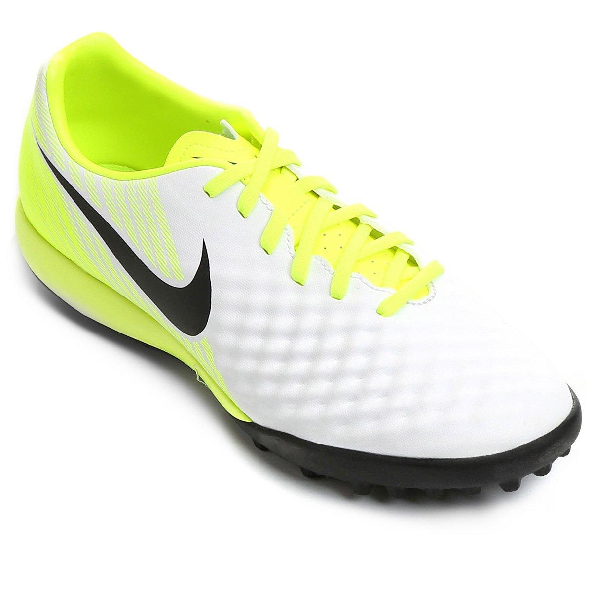 Chuteira Society Nike Magista Onda II TF - Branco e Preto - Compre ... ddaa1f93b42b5