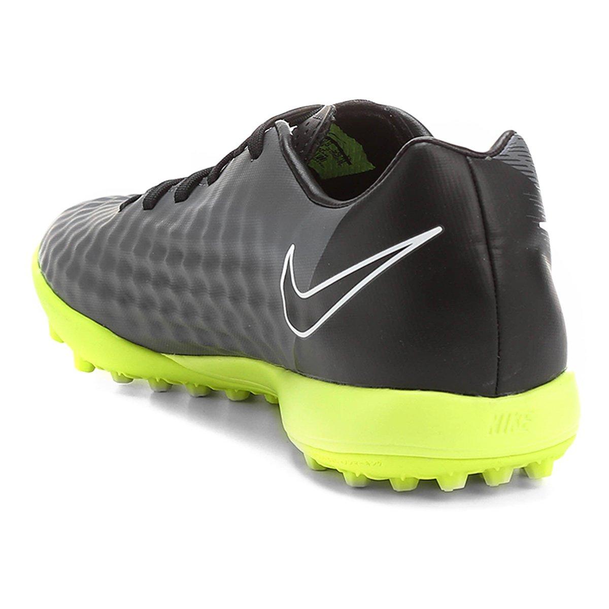 Chuteira Society Nike Magista Onda II TF - Chumbo e Verde Limão ... 8bd18d76fdfa6