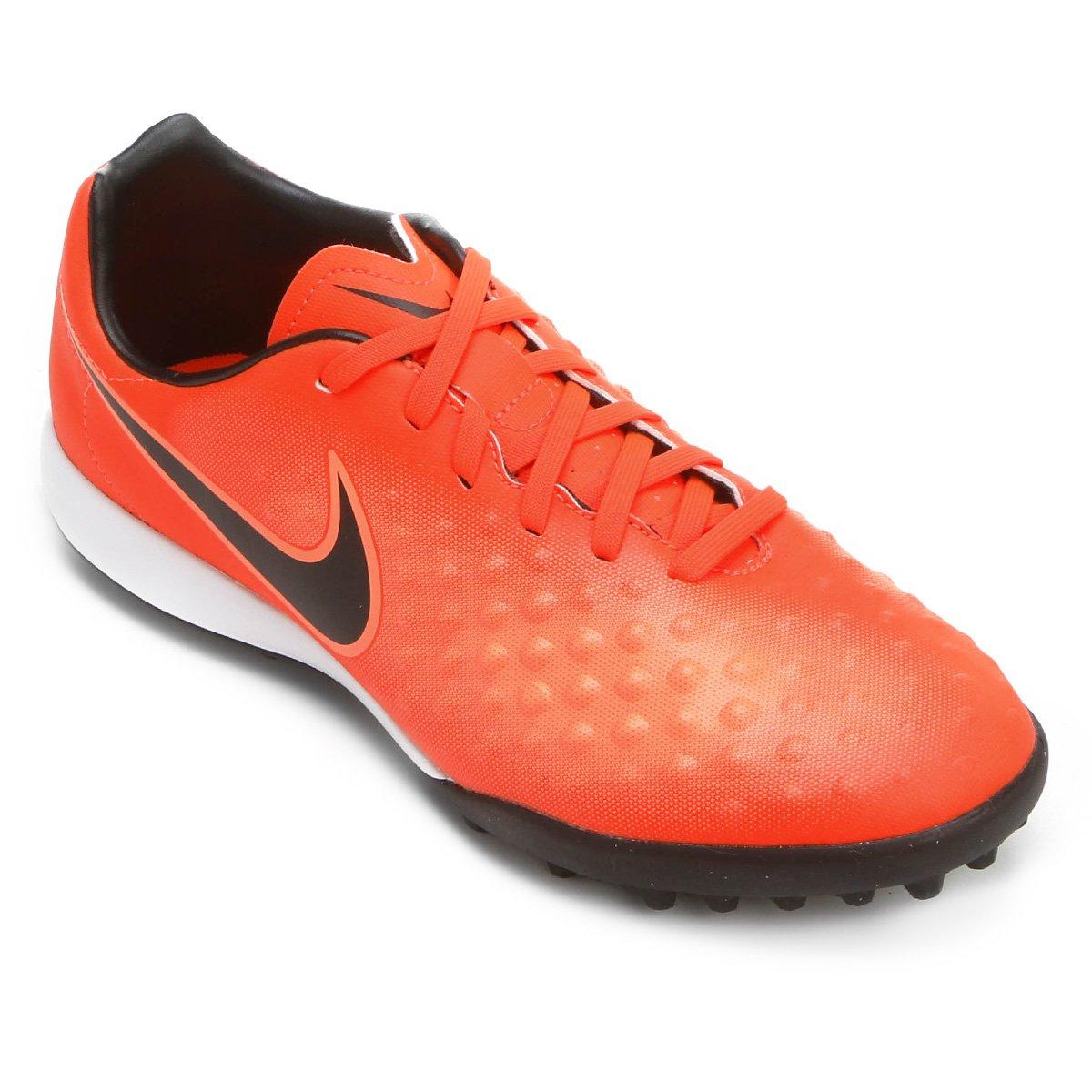 Chuteira Society Nike Magista Onda II TF - Vermelho e Preto - Compre ... 5b0a1d7a6cb33