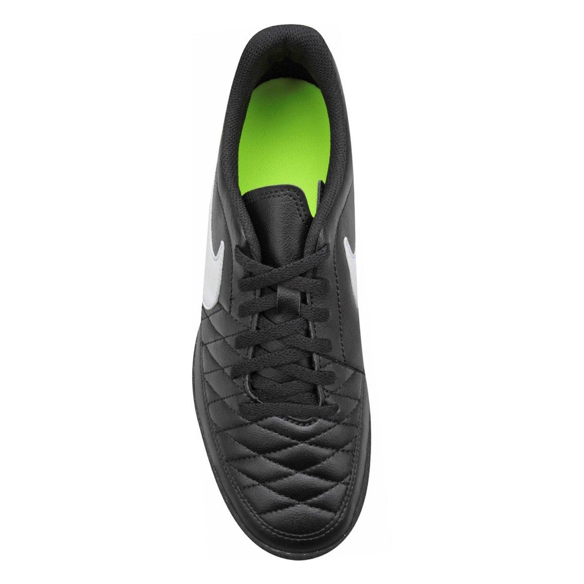 Chuteira Society Nike Majestry TF - Preto e Branco - Compre Agora ... 4a2ae92e69860