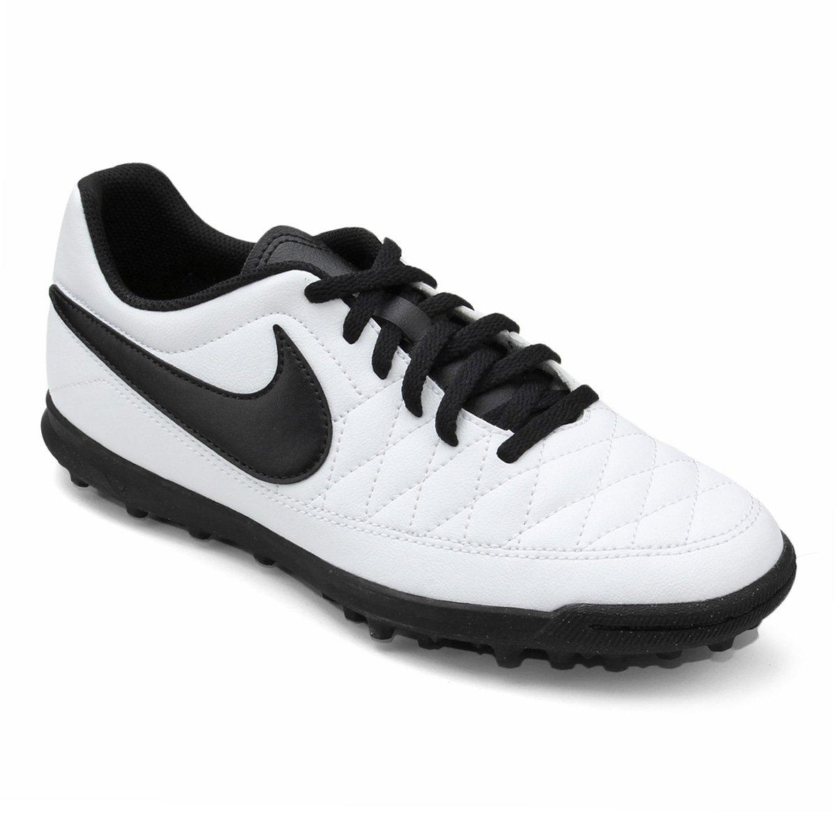 777c9d0766 Chuteira Society Nike Majestry TF - Branco e Preto - Compre Agora ...