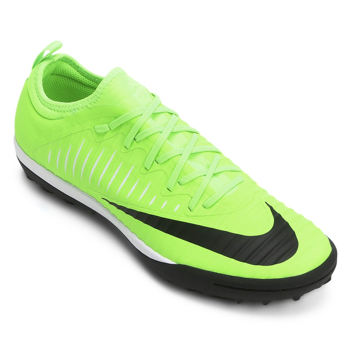 6d90ae6296 Chuteira Society Nike Mercurial Finale 2 TF Masculina - Verde e .
