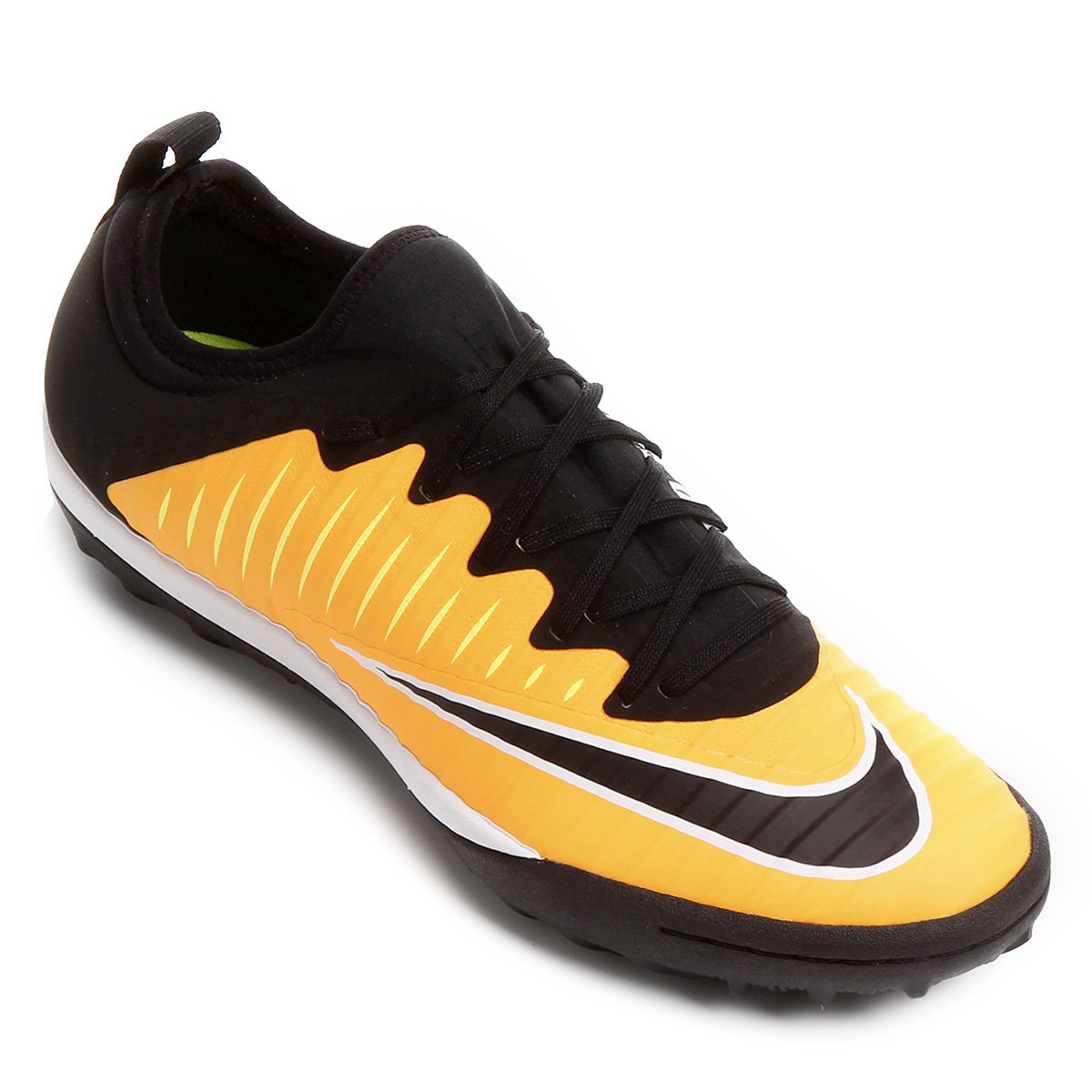 a27df0dbd8 Chuteira Society Nike Mercurial Finale 2 TF - Laranja e Preto ...