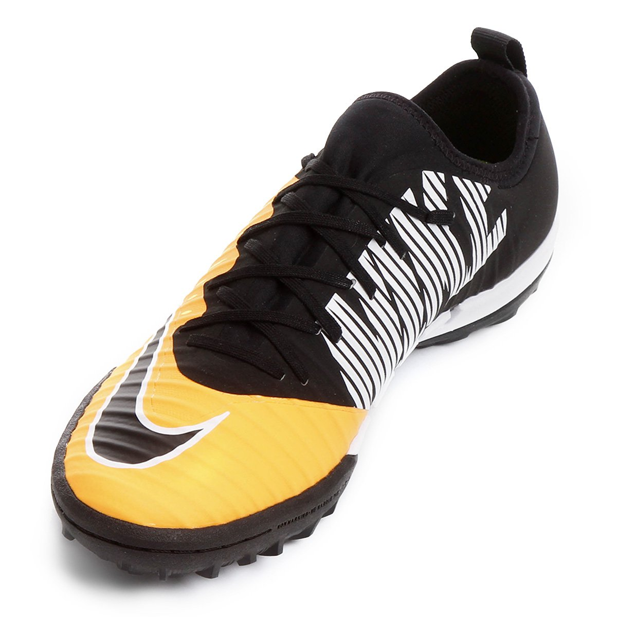 c581a7617a Chuteira Society Nike Mercurial Finale 2 TF - Laranja e Preto ...