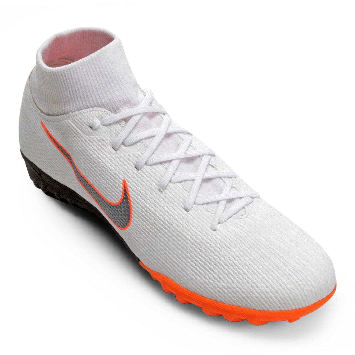 6222faa93e Chuteira Society Nike Mercurial Superfly 6 Academy - Branco e Cinza ...