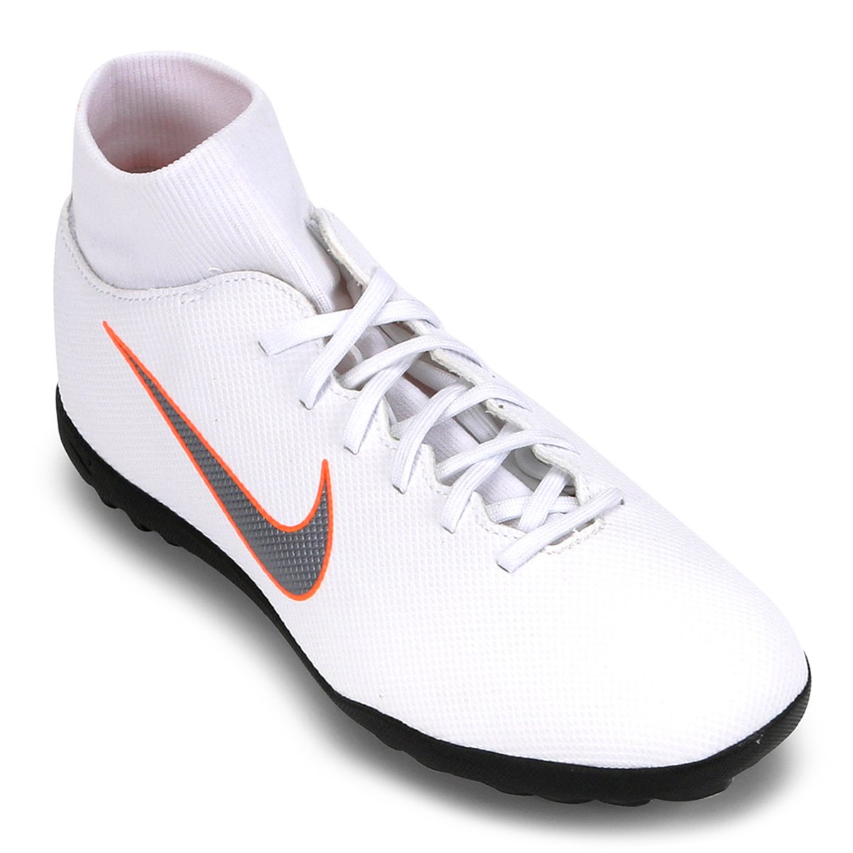 549fb1b768 Chuteira Society Nike Mercurial Superfly 6 Club - Branco e Cinza ...