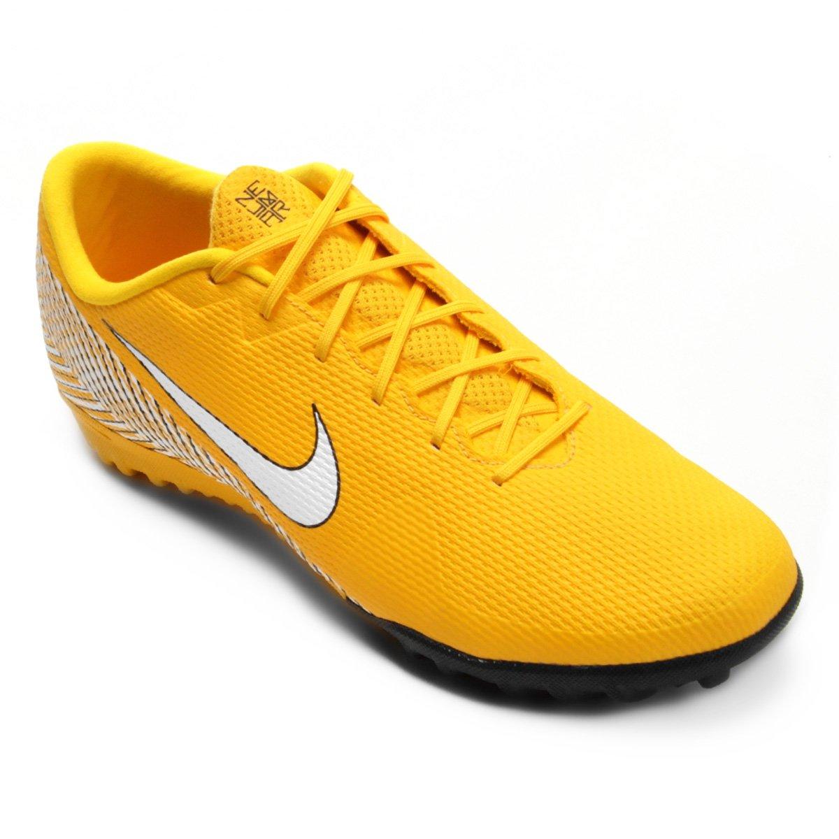 5b261b203d Chuteira Society Nike Mercurial Vapor 12 Academy Neymar TF - Amarelo e  Preto