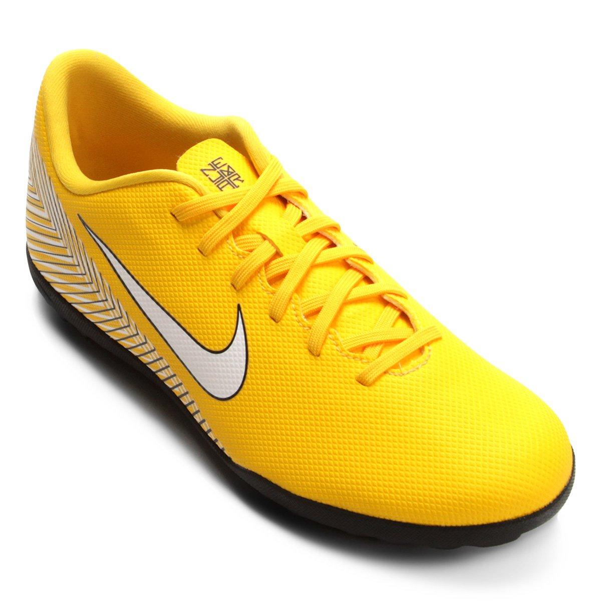 Chuteira Society Nike Mercurial Vapor 12 Club Neymar TF - Amarelo e Preto - Compre  Agora  8d89c11cf298b