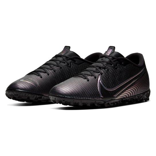 Chuteira Society Nike Mercurial Vapor 13 Academy TF - Preto