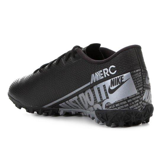 Chuteira Society Nike Mercurial Vapor 13 Academy TF - Preto+Cinza