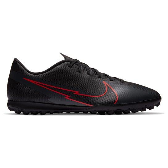 Chuteira Society Nike Mercurial Vapor 13 Club TF - Preto+Chumbo