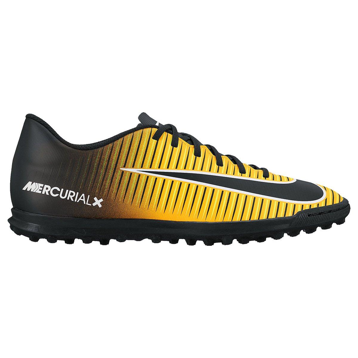 9350e1eb4ac4a Chuteira Society Nike Mercurial Vortex 3 TF - Preto e Laranja Escuro | Shop  Timão