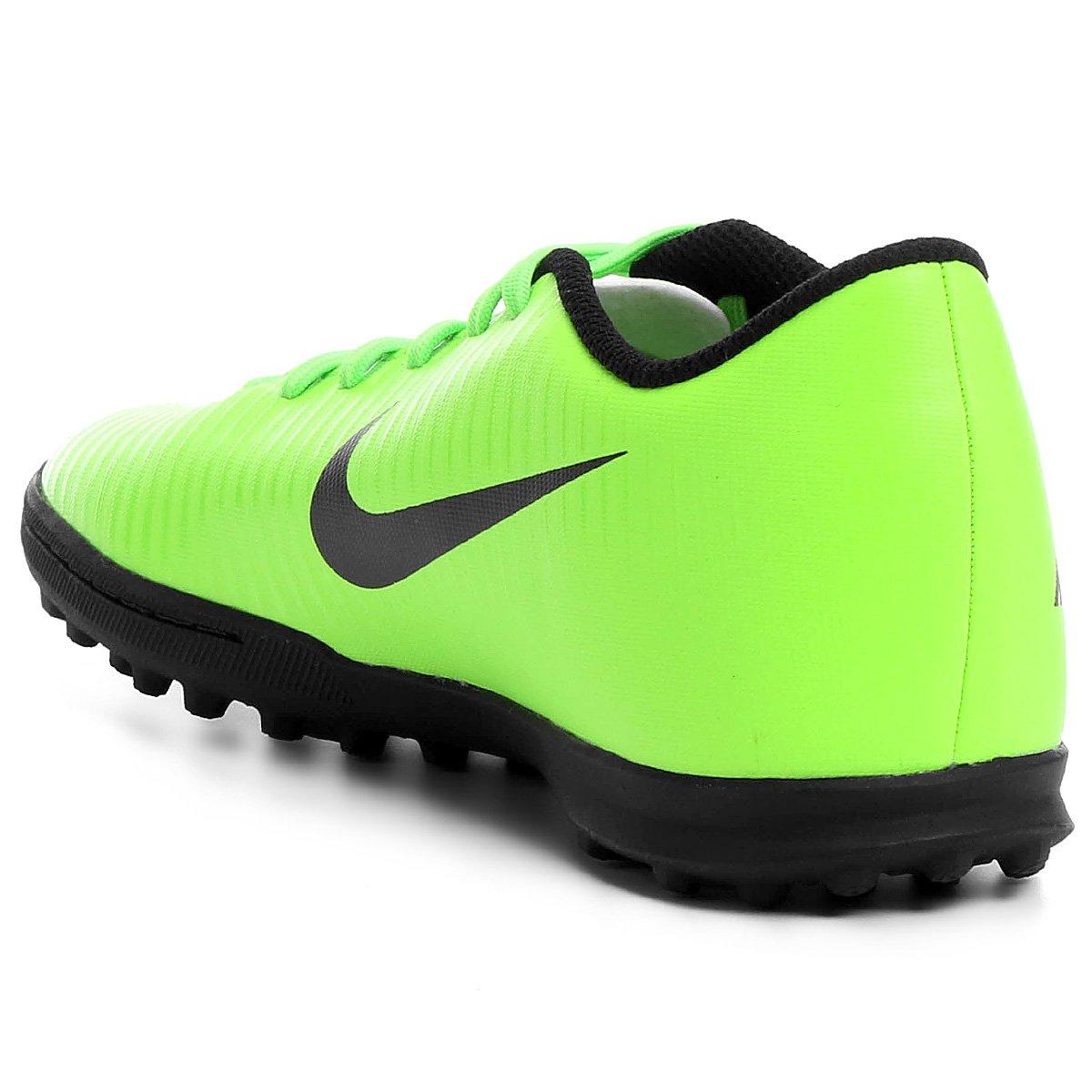 Chuteira Society Nike Mercurial Vortex 3 TF - Verde e Preto - Compre ... e8934ab0565e1