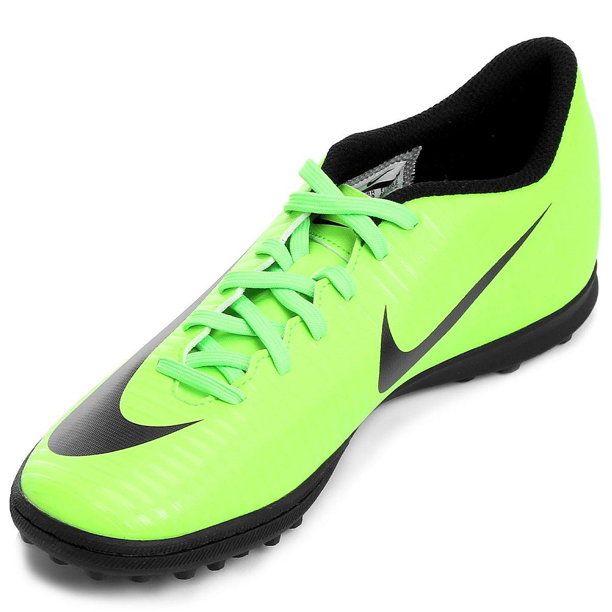 2bb403f575 Chuteira Society Nike Mercurial Vortex 3 TF - Verde e Preto - Compre ...