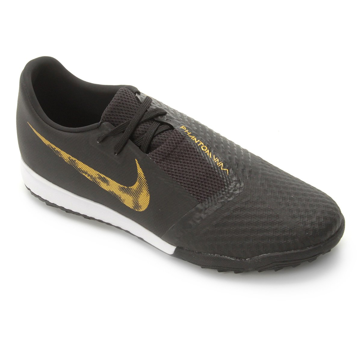dd5df288b17 Chuteira Society Nike Phantom Venom Academy TF - Preto e Dourado - Compre  Agora