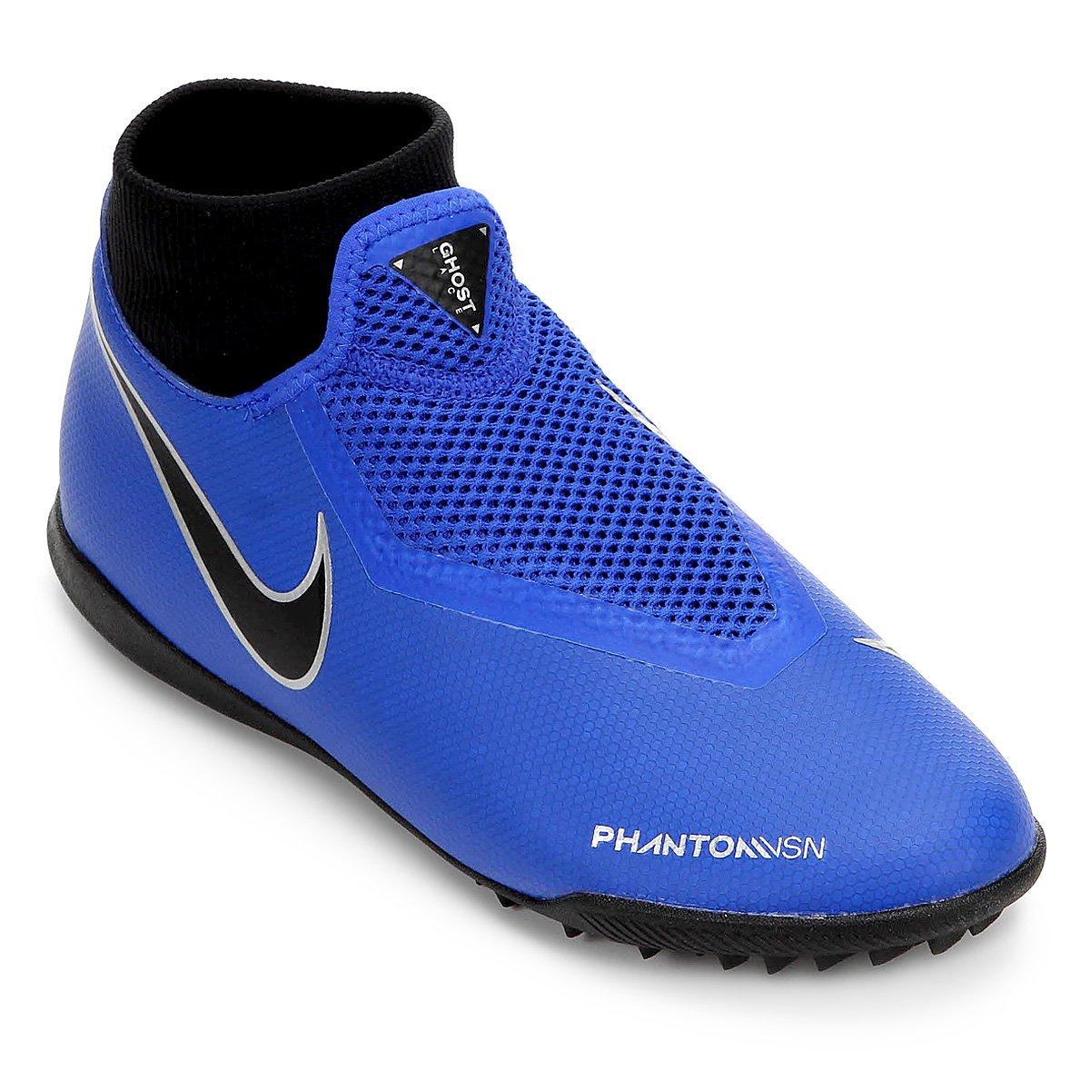 Chuteira Society Nike Phantom Vision Academy DF TF - Azul e Preto - Compre  Agora  5ac8ac61b181a
