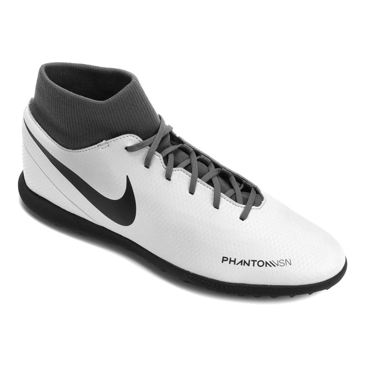 7ebccbe410 Chuteira Society Nike Phantom Vision Club DF TF - Cinza - Compre ...