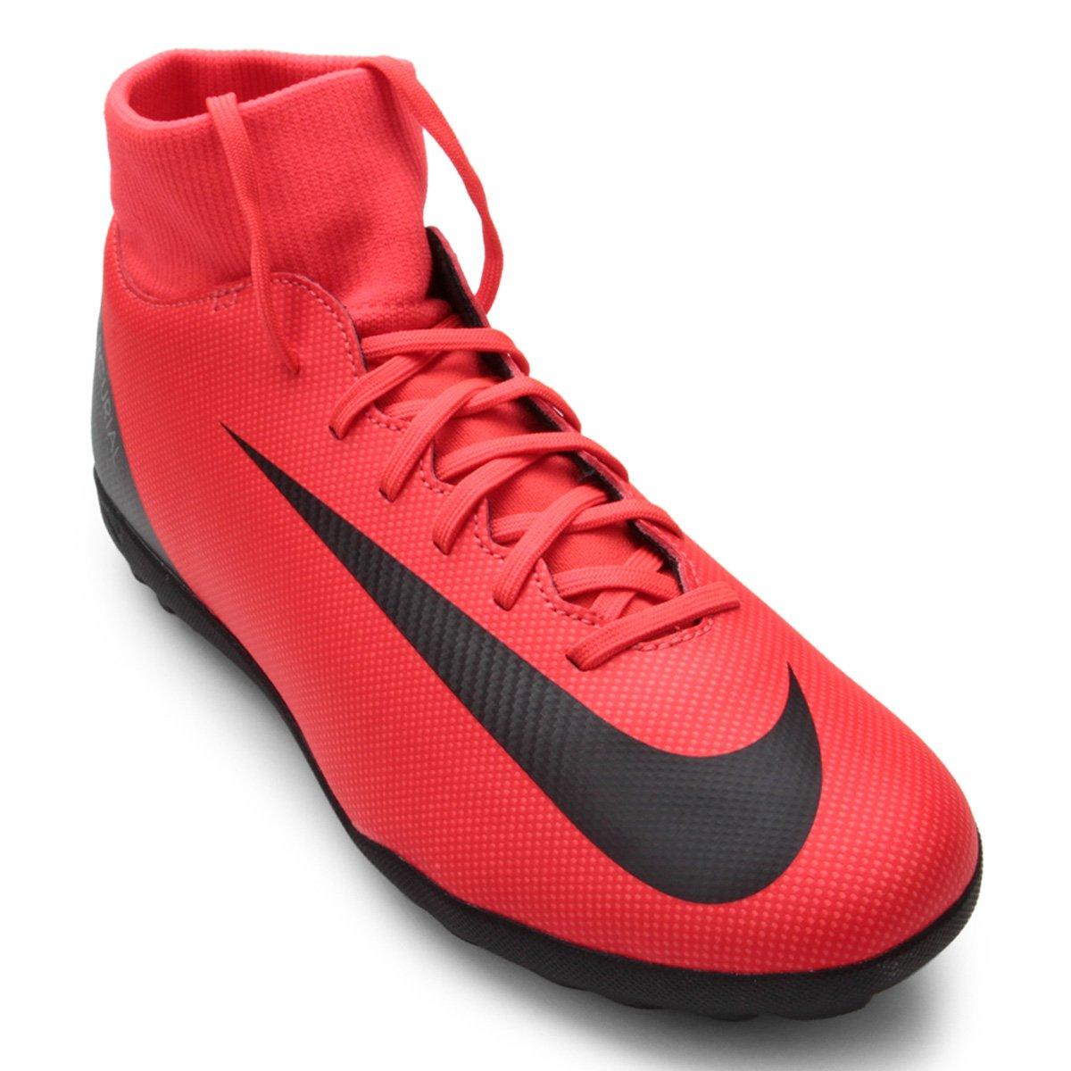 4b88eb97a8 Chuteira Society Nike Superfly 6 Club CR7 TF - Vermelho e Preto ...